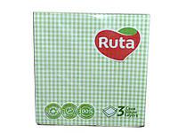 "Серветки Ruta Art 20 шт  (Клітинка Зелена)  ТМ""РУТА"""