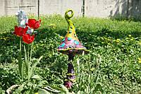 Декор садовый. Мухомор веселый завиток 62 см.