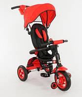 Детский трехколесный велосипед коляска Best 668-1 красный