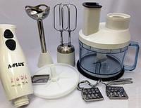 Кухонний комбайн А-плюс зі змінними насадками імпульсний режим, фото 1