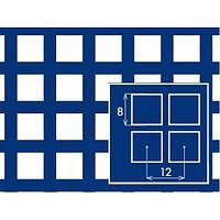 Лист перфорированный с квадратными отверстиями 8*8 шаг 12,0 толщина 1,5 мм размер 1*2 метра от Гост Метал