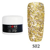 Гель Star Shine №2 (золотистый) Adore Professional, 5 мл