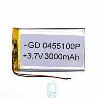 Аккумулятор GD 0455100P 3000mAh Li-ion 3.7V