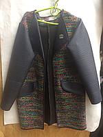 Кардиган кожаный рукавподростковыйдля девочки 8-10лет,разноцветный