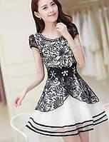 Платье - Выше колена - Кружева - Облегающий - Пояс в комплект не входит 01731709