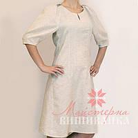 Льняная заготовка платья под вышивку  СК-04 л