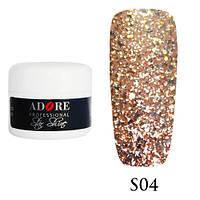 Гель Star Shine №4 (бронзовый) Adore Professional, 5 мл