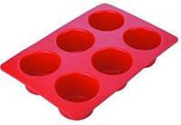 Форма для кексов 6 штук 31х21 см h4 см силикон Empire