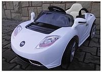 Детский электромобиль Cabrio Т Белый аккумуляторный на пульте управления