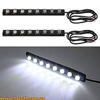Лампы-линзы диодные 8 LED DRL (ДХО, светодиодная лента)