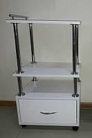 Тележка косметологическая стол с ящиком на колесиках