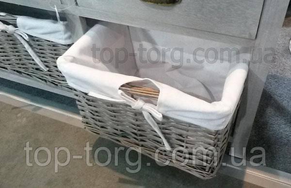 Низкий комод с плетеными корзинками и ящичками. Прованс. E1441