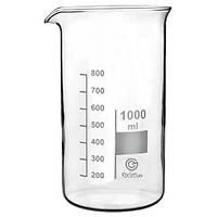 Стакан мірний ЕксімКаргоТрейд високий з носиком 1л d9,5 см h18 см скло (B-1-1000 TC)