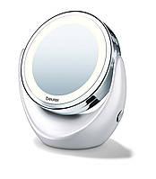 Зеркало косметическое Beurer BS 49 с подсветкой с увеличением 5х настольное