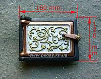 Дверка печная (сажетруска) художественная №2, фото 1