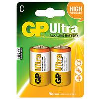 Батарейка щелочная GP 14AU-U2, LR14,C (Y)
