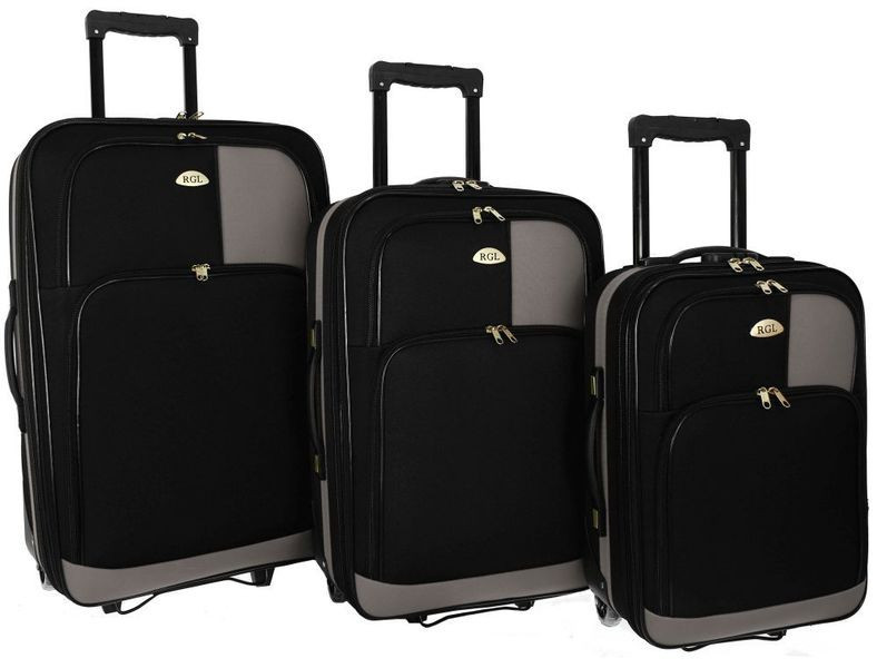 Чемодан сумка RGL 652 набор 3 штуки Разные цвета