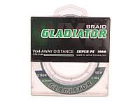 "Шнур ""GLADIATOR"" 0,14 9.1 kg.зелений 100м. 4-жилки TM ""GLADIATOR"""