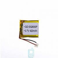 Аккумулятор GD 032830P 420mAh Li-ion 3.7V
