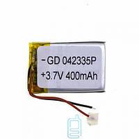 Аккумулятор GD 042335P 400mAh Li-ion 3.7V