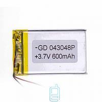 Аккумулятор GD 043048P 600mAh Li-ion 3.7V