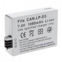 Аккумулятор для фотоаппаратов CANON 450D, 500D, 1000D, 2000D - LP-E5 (аналог) - 1080 ma