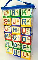 МЕГА НАБОР! Кубики-конструктор для изучения английского языка (18 шт., в сумке)