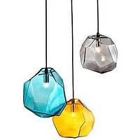 G9 220v 18x18cm творческий кристалл льда личности стекла алмаз кулон хроматической droplight лампы светодиодные лампы 04647235