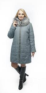 Удлиненная зимняя куртка с мехом