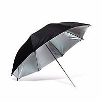 Фото-зонт черно-серебряный на отражение Arsenal 110 см