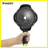 Подводный бокс DOME PORT от SHOOT для камер Xiaomi YI II 4K, 4K Plus, YI Lite (код № XTGP314B)