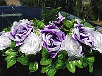 Икебана-панно Фиолетово-белая на Присосках