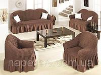 Чехол на диван и 2 кресла art of Sultana шоколадный