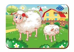 Деревянный вкладыш «Мама и детеныш», овечки