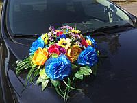 Икебана-панно Украинская полевые цветы, на магнитах