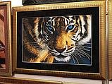 """Схема на ткани для вышивания бисером """"Тигр"""" (серия Элит)., фото 2"""