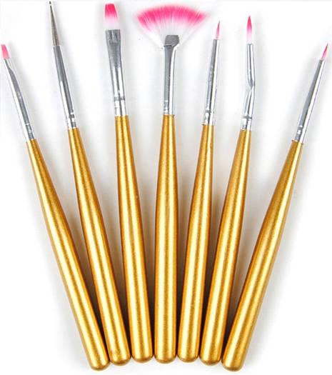 Набор кистей для дизайна и рисования на ногтях ,7 шт