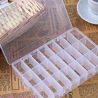 Контейнер из пластика, для бусин, бисера, паеток и других мелочей, 24 ячейки, ячейки съемные, 19513036мм