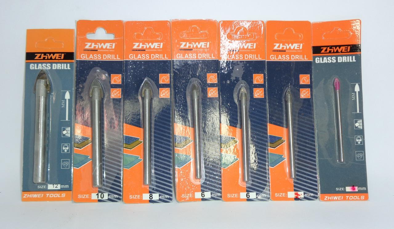 Сверло по стеклу и плитке 6 мм Zhwei