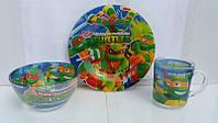 Детский набор посуды  для мальчиков  Черепашки Ниндзя