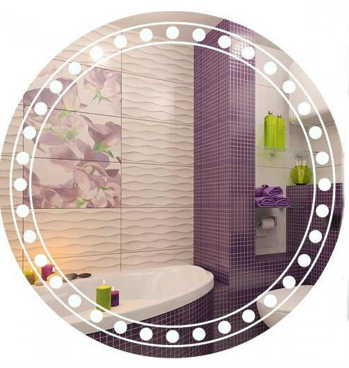 круглое зеркало с декором