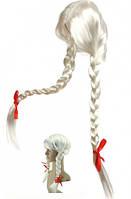 Парик Две косы (белый)