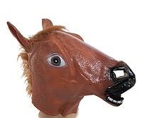 Маска латексная Лошадь (коричневая)