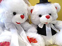 Свадебные мишки 40 см, Белый (130)