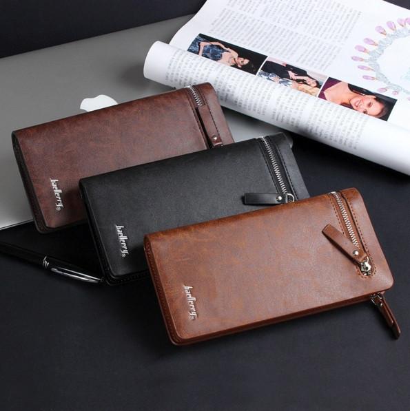 Мужской стильный кожаный клатч Baellerry Italia кошелек бумажник портм