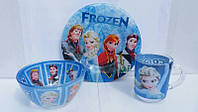 Детский набор посуды для девочек Холодное сердце (Фрозен)