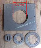 Плита чавунна печі, мангал, барбекю (360х410 мм), фото 2