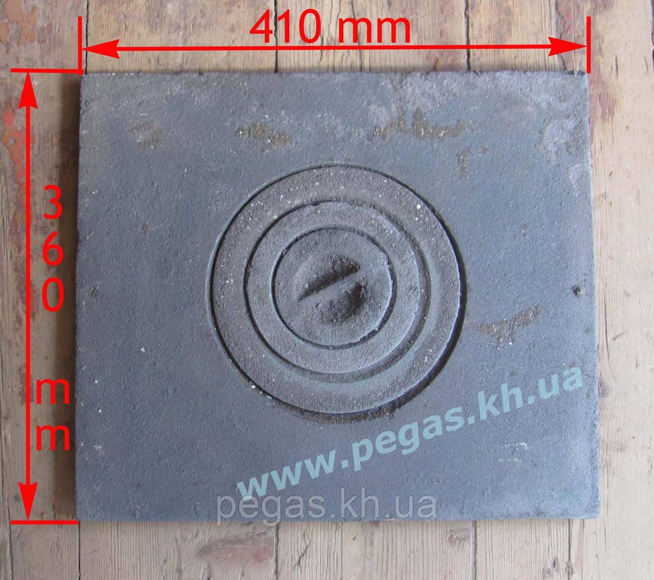 Плита чавунна печі, мангал, барбекю (360х410 мм)