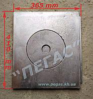 Плита чугунная однокомфорочная (365х410), фото 1