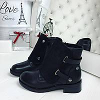 Зимние женские ботиночки чёрные